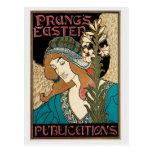 Vintage art nouveau Prang's Easter Post Card