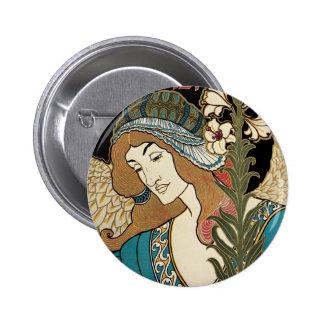 Vintage Art Nouveau, Prangs Easter Publications Button