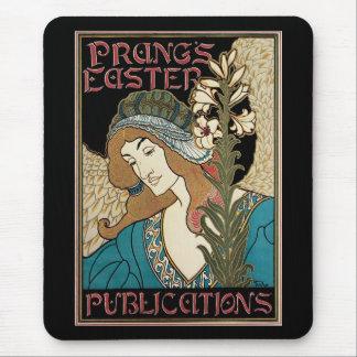 Vintage Art Nouveau, Prangs Easter Publications Mouse Pad