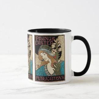 Vintage Art Nouveau, Prangs Easter Publications Mug