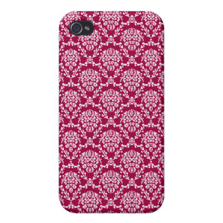 vintage Art Nouveau red wallpaper floral pattern Case For iPhone 4