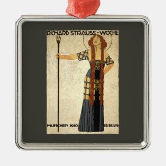 Vintage Art Nouveau Richard Strauss-Woche. Munich Metal Ornament