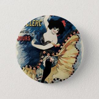 Vintage Art Nouveau, Spanish Flamenco Dancer Pinback Button