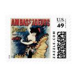 Vintage Art Nouveau, Spanish Flamenco Dancer Postage Stamps