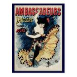 Vintage Art Nouveau, Spanish Flamenco Dancer Postcards