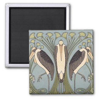 Vintage Art Nouveau Storks Magnet