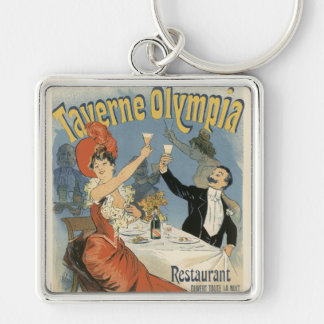 Vintage Art Nouveau Taverne Olympia Drinks Party Key Chains