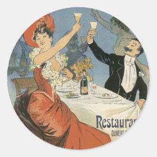 Vintage Art Nouveau; Taverne Olympia, Drinks Party Sticker