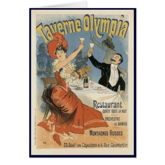 Vintage Art Nouveau, Taverne Olympia Restaurant Card