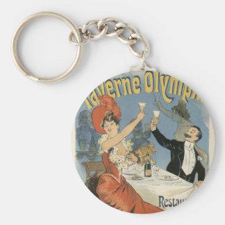 Vintage Art Nouveau, Taverne Olympia Restaurant Keychain