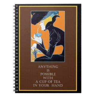Vintage Art Nouveau Tea Quote Notebook