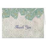 Vintage Art Nouveau Thank You Card
