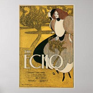 Vintage Art Nouveau The Echo ad Print