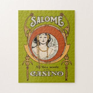 Vintage Art Nouveau Theater Casino Woman Design Puzzles
