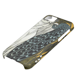 Vintage Art Nouveau, This Kiss, Woman with Peacock Cover For iPhone 5C