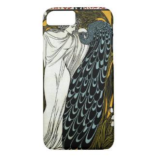 Vintage Art Nouveau This Kiss, Woman with Peacock iPhone 8/7 Case