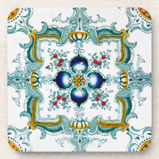 Vintage Art Nouveau Tile Drink Coasters
