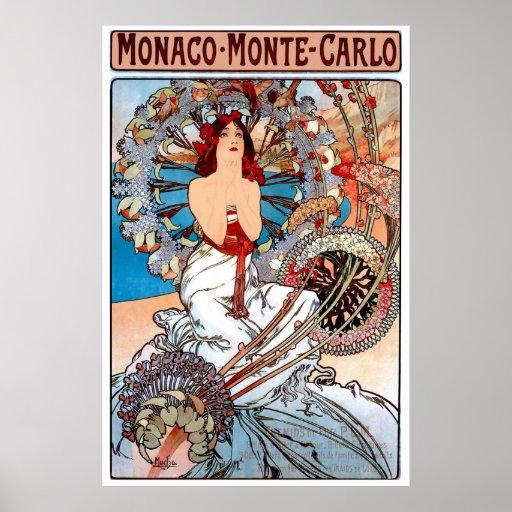 Vintage Art Nouveau Travel Poster