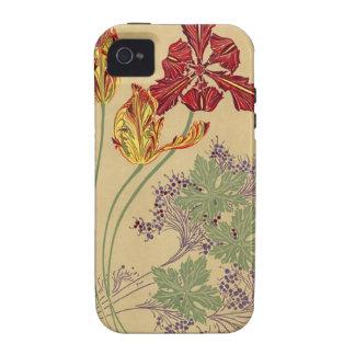 Vintage Art Nouveau Tulips Case-Mate Case-Mate iPhone 4 Cover