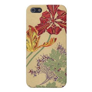 Vintage Art Nouveau Tulips iPhone 5 Covers
