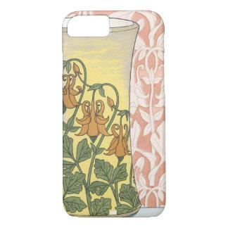 Vintage Art Nouveau, Vase with Columbine Flowers iPhone 8/7 Case