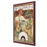 Vintage Art Nouveau, Victorian Cookie Lady Gallery Wrap Canvas