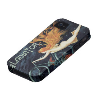 Vintage Art Nouveau, Victorian Gladiator Cycles iPhone 4 Covers