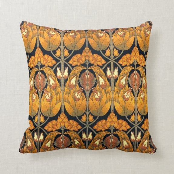 Vintage Art Nouveau Victorian Pillow Throw