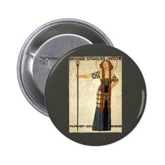 Vintage Art Nouveau, Victorian Woman 2 Inch Round Button