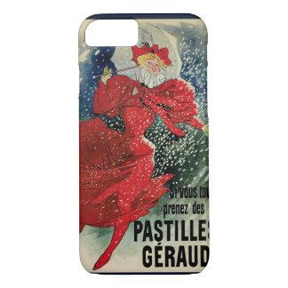 Vintage Art Nouveau, Victorian Woman in Snow iPhone 7 Case