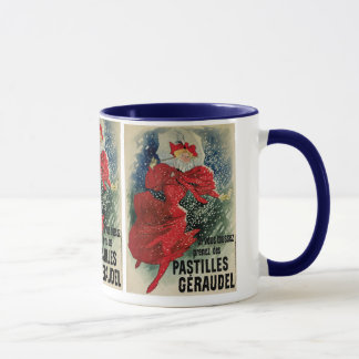 Vintage Art Nouveau, Victorian Woman in Snow Mug