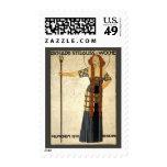 Vintage Art Nouveau, Victorian Woman Stamp
