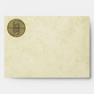 Vintage Art Nouveau Vineyard Peacock Envelopes