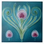 """Vintage Art Nouveau Wall Tile Floral<br><div class=""""desc"""">Designed for your home.</div>"""