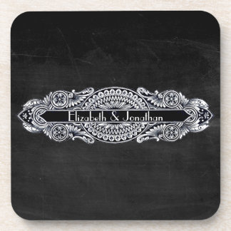 Vintage Art Nouveau Wedding Coasters