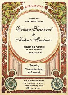 Art Nouveau Wedding Invitations   Zazzle