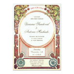 Vintage Art Nouveau Wedding Invitations I