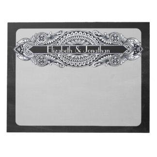 Vintage Art Nouveau Wedding Notepad
