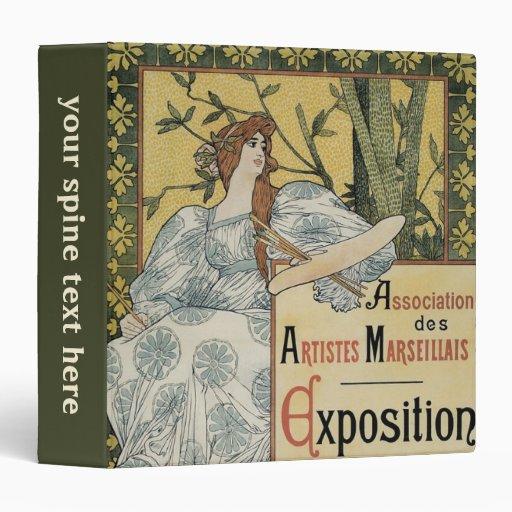 Vintage Art Nouveau; Woman Artist and Palette Binders