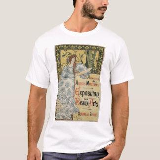 Vintage Art Nouveau, Woman Artist with Palette T-Shirt