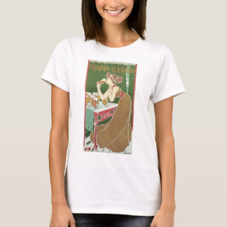 Vintage Art Nouveau, Woman Drinking Draft Beer T-Shirt