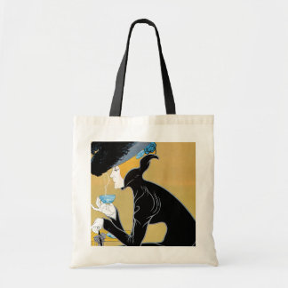Vintage Art Nouveau, Woman Drinking Marco Polo Tea Bags
