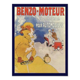 Vintage Art Nouveau, Woman Driving Convertible Car Card