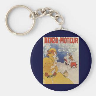 Vintage Art Nouveau, Woman Driving Convertible Car Keychain