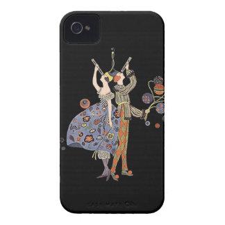 Vintage Art Nouveau WW1 Party Celebration iPhone 4 Case-Mate Case