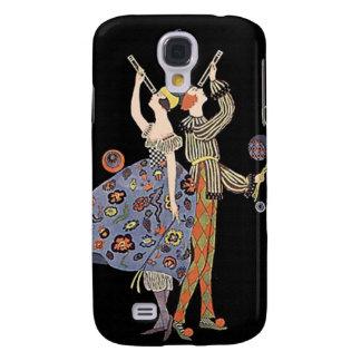 Vintage Art Nouveau WW1 Party Couple Celebrating Samsung Galaxy S4 Case