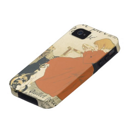Vintage Art Nouveau, Young Girl Giving Cats Milk Vibe iPhone 4 Cover