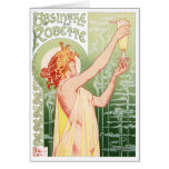 Vintage Art Nouveua-Style Belle Epoque poster for Greeting Cards