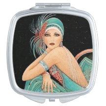 Vintage Art Nuevoe Mirror Makeup Mirror