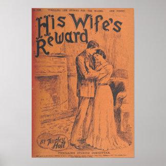 "Vintage Art Poster ""His Wife's Reward"""